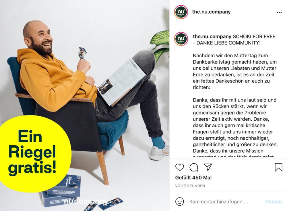 creative copywriting social media beispiel thenucompany